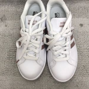 Adidas rose gold sneakers. Only worn once
